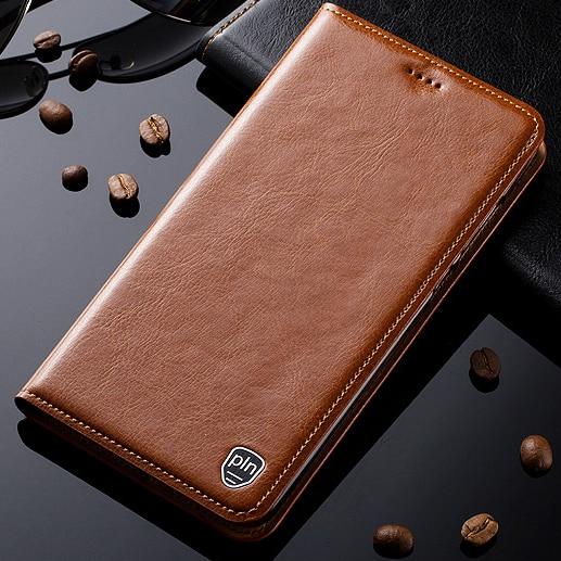 Caso para lenovo z5 z5s z6 pro lite gt caso suporte de couro genuíno flip magnético capa do telefone