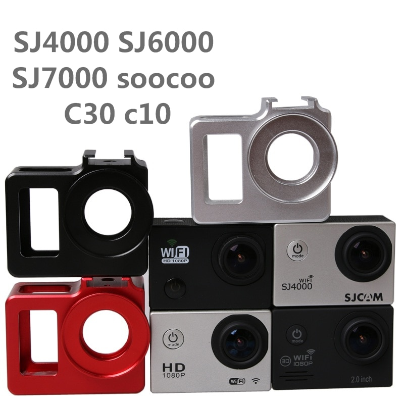 C30 Alloy cage Protective Housing Case Cover bag Metal frame+UV filter for SJCAM SJ4000 SJ5000 H9 H9R Sj9000 SOOCOO C3 Clownfish