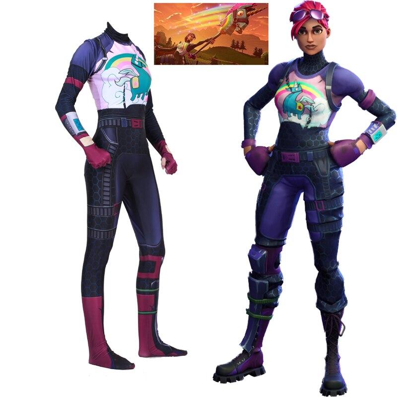 Женский карнавальный костюм Brite Bomber llama Rainbow Horse Zentai, костюм для вечеринки на Хэллоуин