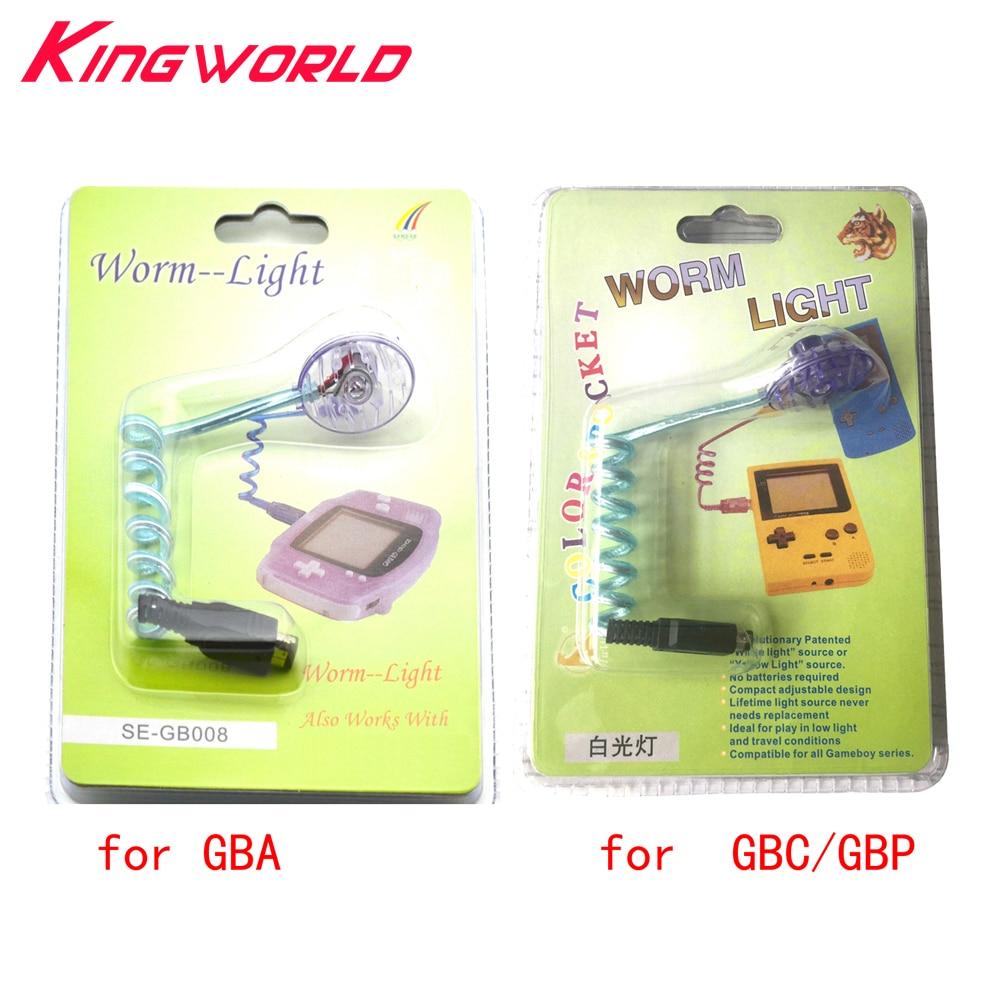 Xunbeifang 100 قطعة دودة ضوء الإضاءة LED مصابيح ل G-ameboy مسبقا ل G-BA G-BP G-BC لعبة وحدة التحكم مع التعبئة