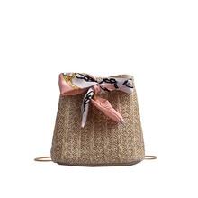 MOLAVE Handbags Straw bags for Women2019 Joker Crossbody Fashion handbag One Shoulder Drawstring Dumplings package string bag430