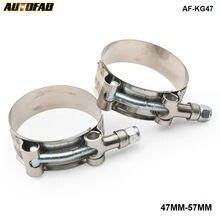 (47MM-57MM) SILICONE TURBO tuyau coupleur T boulon SUPER pince KIT AF-KG47