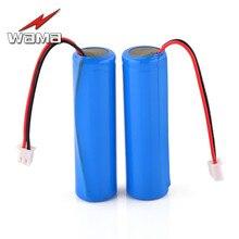 2x Wama 2600 mAh 18650 protégé PCB 3.7 V Li-ion Lithium 1 S batteries rechargeables pour lampe de poche bricolage haut-parleur FM Radio