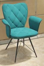 Modern simple velvet chair computer chair. Negotiation chair.