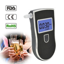 NEW Hot selling Professional Police Digital Breath Alcohol Tester Breathalyzer AT818 Respirable Breath Ethanol Test Analyzer