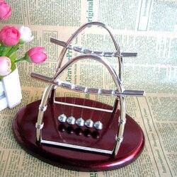 Metal newton berço bolas de equilíbrio de aço física ciência pêndulo movimento balanceamento bolas decoração para casa artesanato mesa pêndulo brinquedo