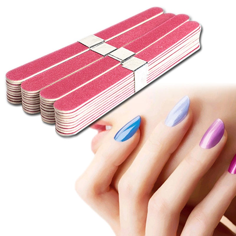40pcs/Lot Nail Files Salon Nail Art  Buffing Grit Sand Fing Nail Art Tool Accessories Sanding File UV Gel Polish Tools