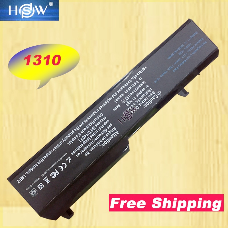HSW portátil para Dell Vostro 1310 batería 1320 de 1520 de 1510 T114C T112C 0N241H 312-0724, 451-10655 K738H N950C U661H bateria