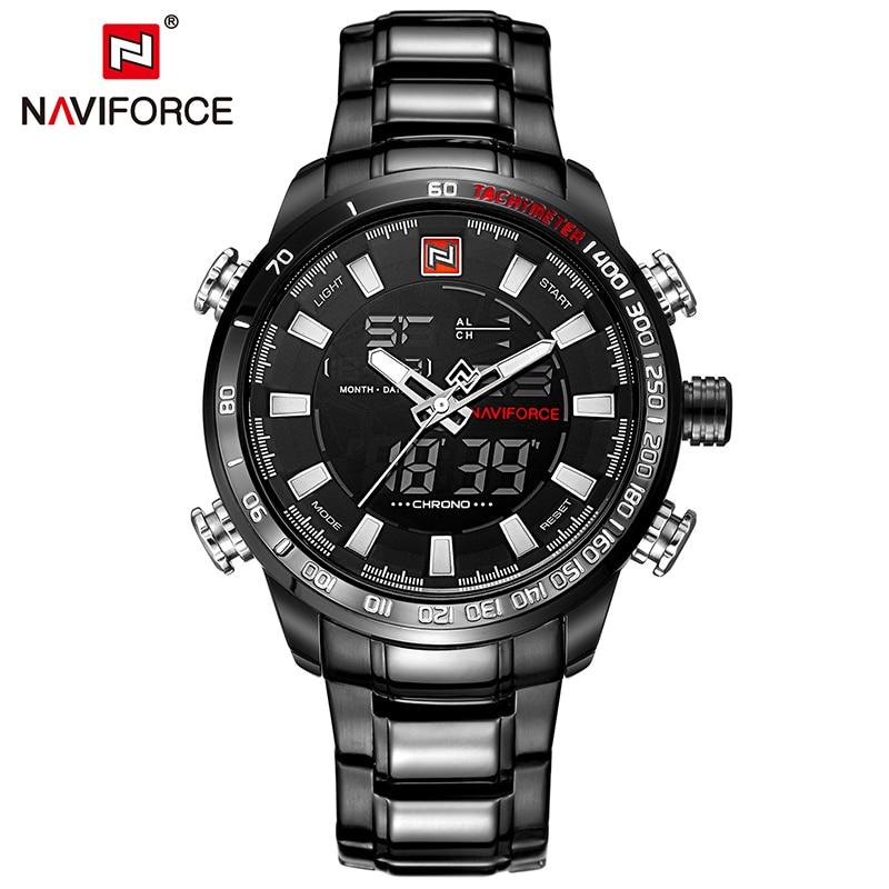 2017 New NAVIFORCE Top Brand Luxury Men Sport Wrist Watch Mens LED Digital Watches Man Wristwatch Male Clock relogio masculino