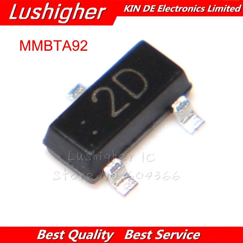 100 шт. MMBTA92 SOT23 MMBTA92LT1G SMD SOT маркировка 2D A92 SOT-23