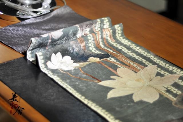 handcraft crafts flower tablerunner lotus flower tablecloth hotel upscale craft decoration