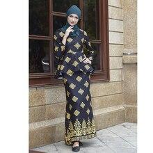 Flowers Muslim Sets Two pieces molett women islamic clothing long tops ropa musulmana mujer skirt jupe musulmane abaya 9002