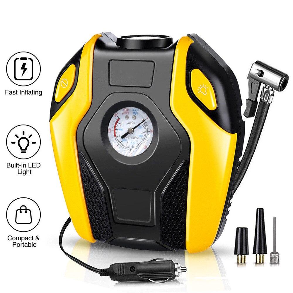 Inflador de neumáticos Digital kongyide, bomba de compresor de aire portátil para coche DC 12 voltios, 150 PSI, compresor de aire para coche, motocicleta, bicicleta