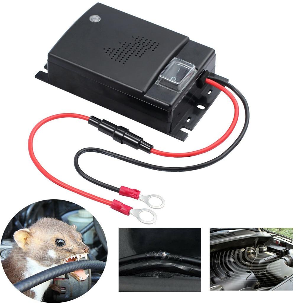 Marten 12V Prevent Marten Shock For Car Rodent Rat Mouse Repeller Mice Mouse Repellent Cars Engine Compartment Pest Control
