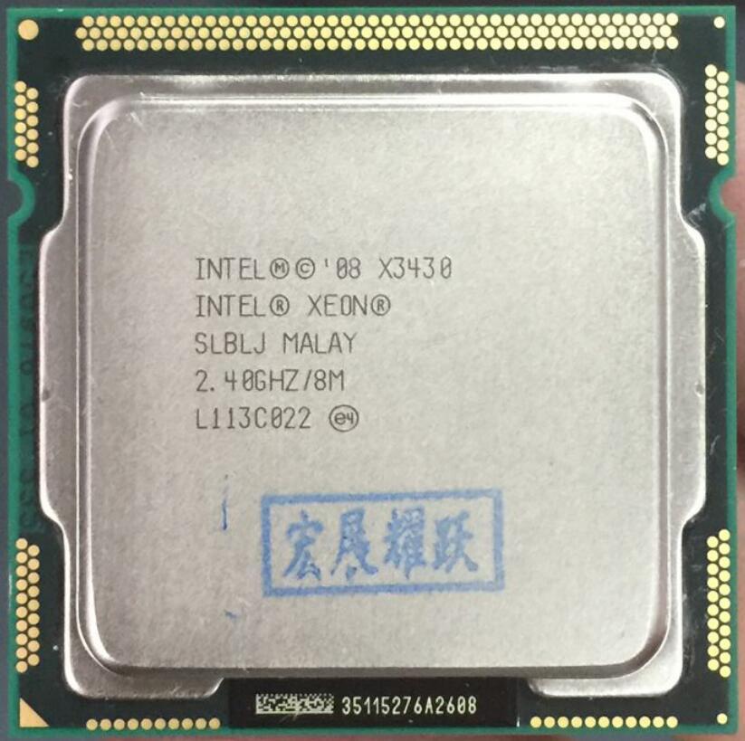 Intel Xeon Processor X3430 (8M Cache, 2.40 GHz) LGA1156 Desktop CPU 100% working properly Desktop Processor