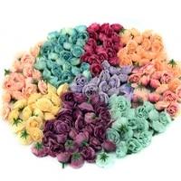 Mini tetes de roses artificielles en soie  10 50 100 pieces  2 5cm  fausses fleurs  pour decoration de mariage  maison  accessoires DIY