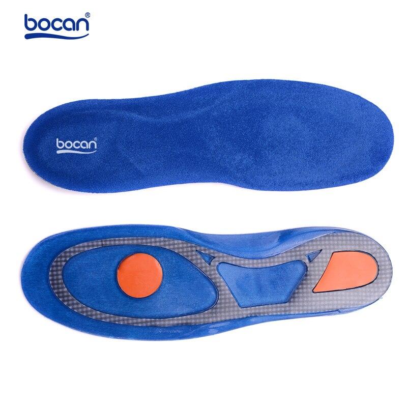 Bocan-plantillas de Gel de silicona para el cuidado de los pies, para fascitis Plantar, plantillas con absorción de impacto, plantillas ortopédicas para arco