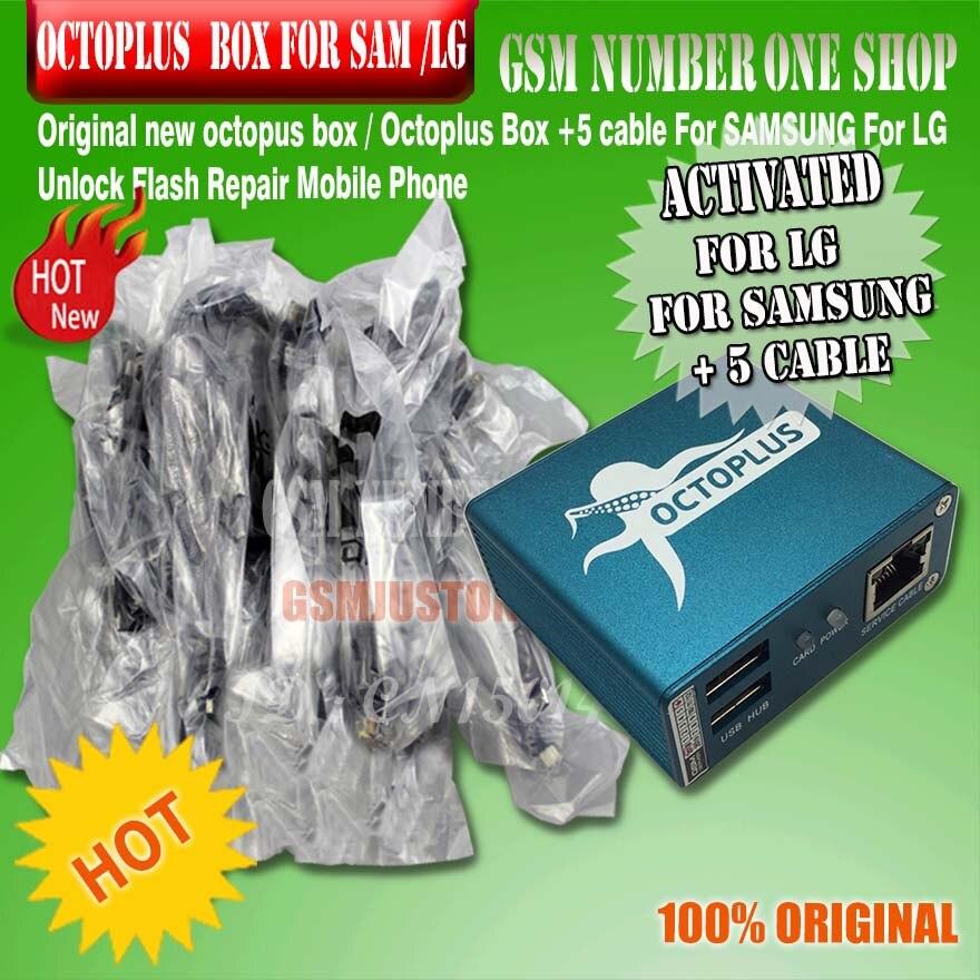 Caixa de polvo/octoplus caixa ativada completa para lg e para samsung incluindo 5 cabos desbloquear flash & repa