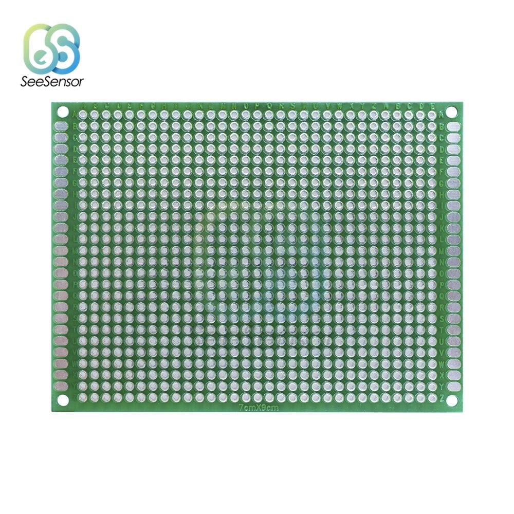 7x9cm Double Side Prototyp PCB Universal-Printed Circuit Board Protoboard Experimentelle Entwicklung Platte Für Arduino 70x90mm