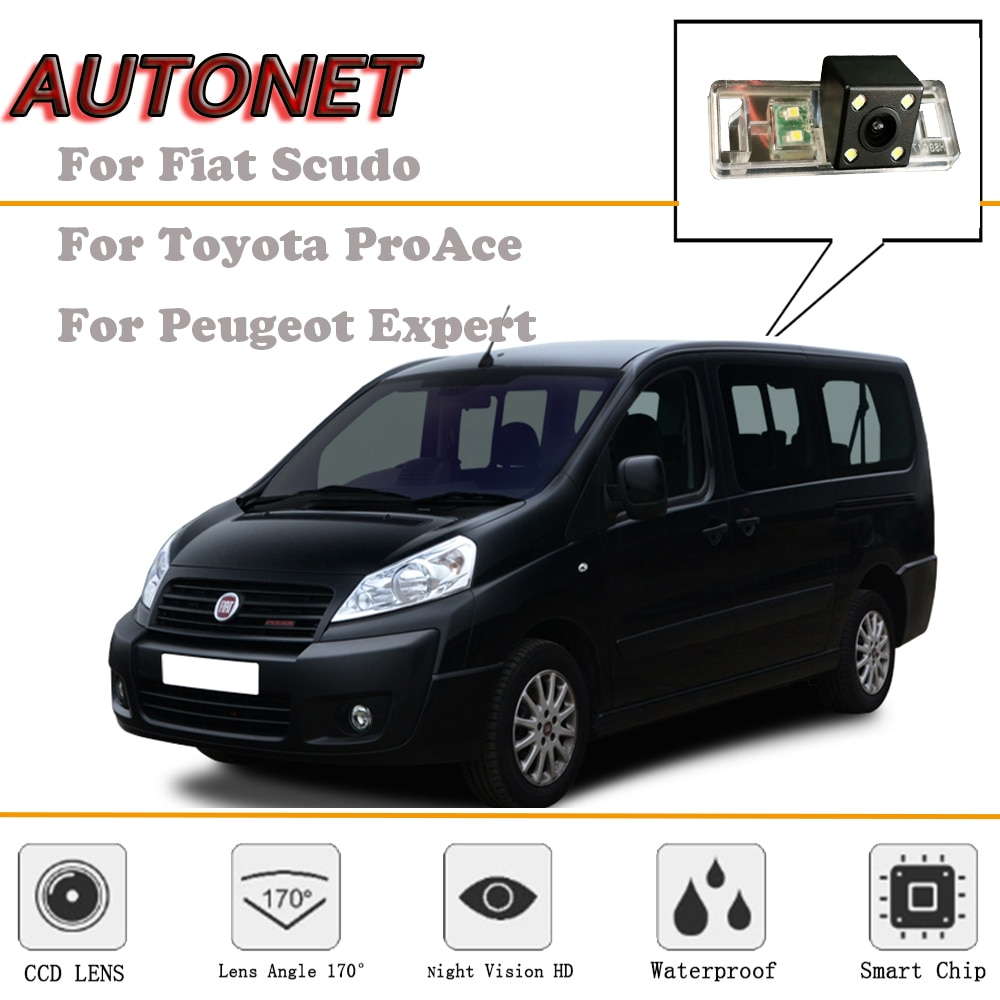 AUTONET Rear View camera For Fiat Scudo/Toyota ProAce/Peugeot Expert/Citroen Dispatch Jumpy Combi/license plate camera