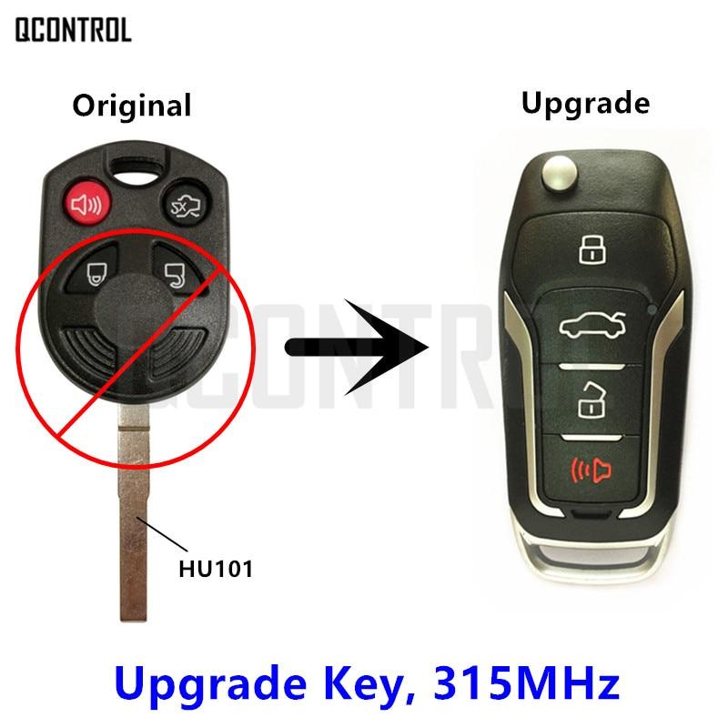 Llave remota mejorada QCONTROL compatible con Ford OUCD6000022 315MHz Escape Focus c-max Transit Connect HU101 Blade