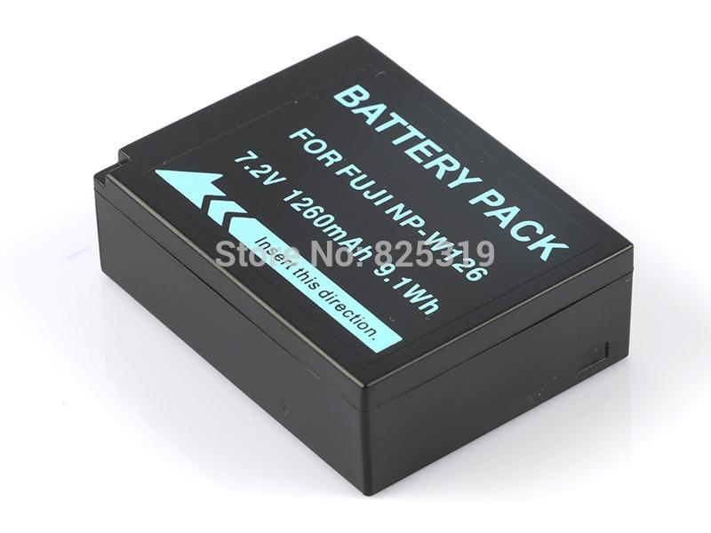 7.2 v 1260 mah li-ion NP-W126 np w126 bateria para fujifilm fuji X-T2 X-A3 xt2 xa3 NP-W126S + número de rastreamento