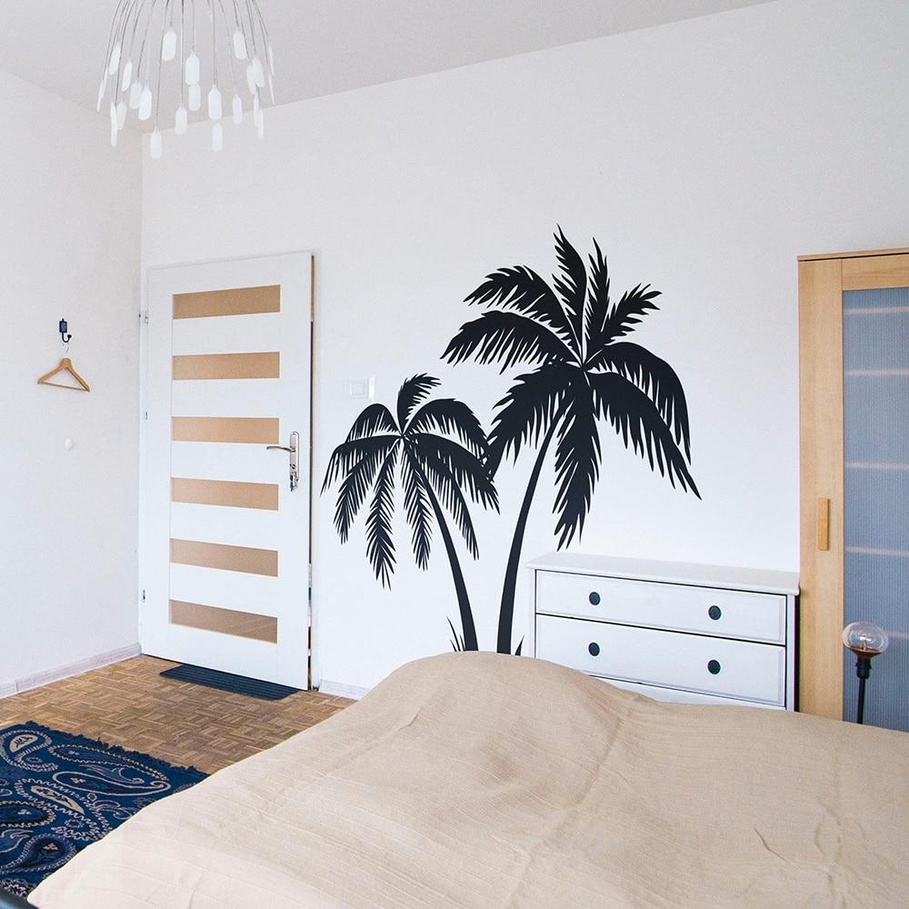 Large Palm Tree Wall Sticker Bedroom Nursery Summer Surfer Surfing Wave Ocean  Beach Wall Decal Kids Room Vinyl Home Decor