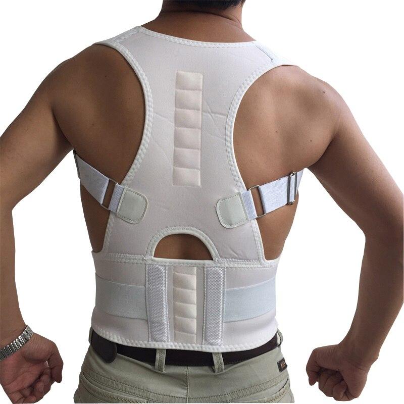 Adulto sujeción en la parte trasera hombro corrector de postura de terapia magnética vendaje correa de soporte de columna vertebral soporte para la corrección de la postura
