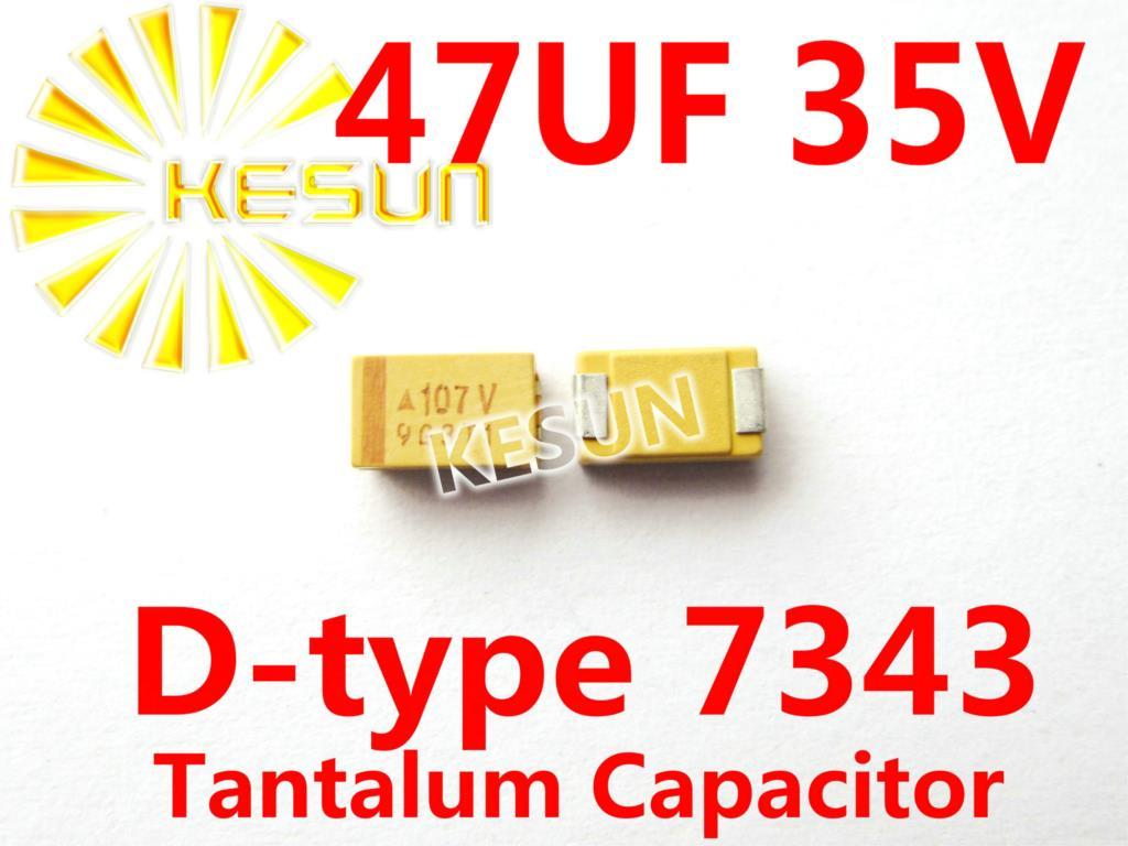 47 فائق التوهج 35V D نوع 7343 2917 476V SMD التنتالوم مكثف موصل TAJD476K035RNJ x500PCS