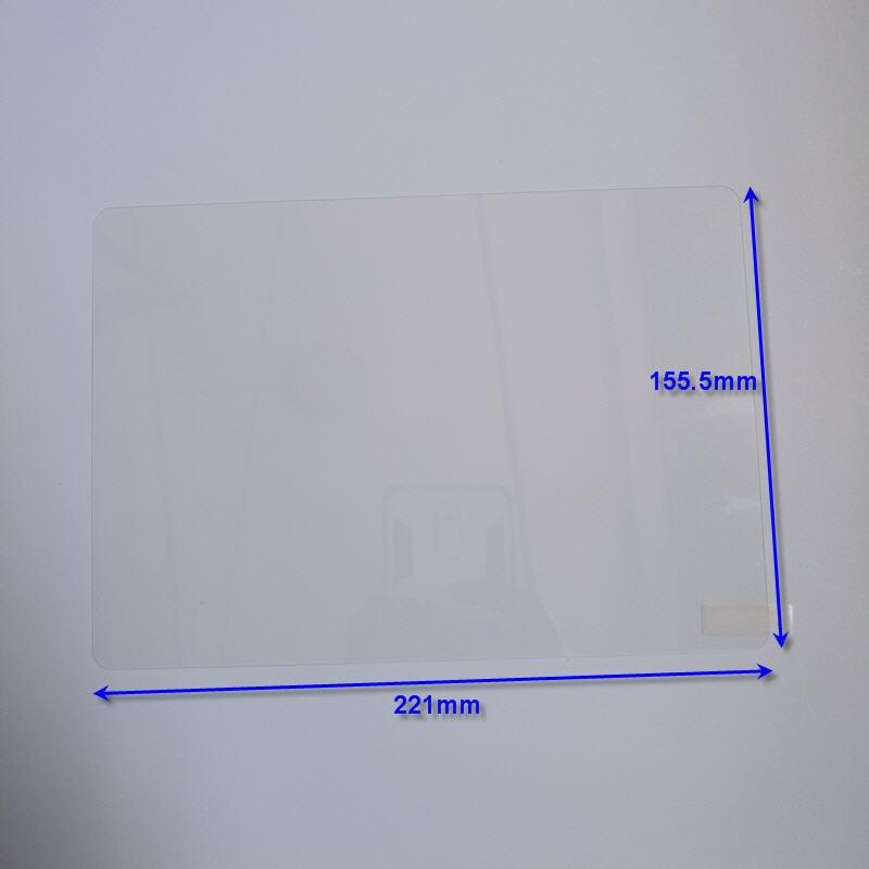 10 pces protetor de tela de filme de vidro temperado universal para tablet de 9.6 polegadas para limpeza de irbis tz968 tz969 toalhetes nenhuma caixa 221*155.5mm