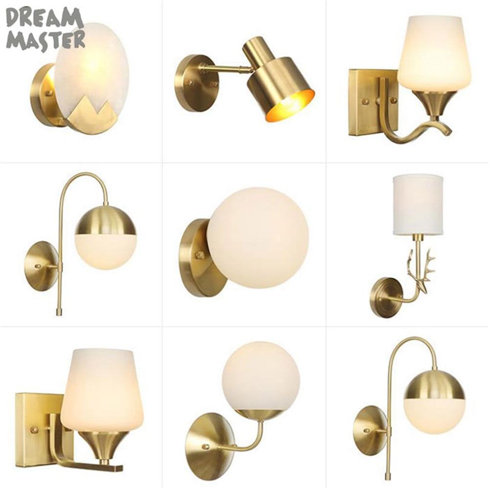 Промышленные медные Настенные светильники настенные ретро-светильники E27 для помещений в спальню Искусство Декор медное освещение