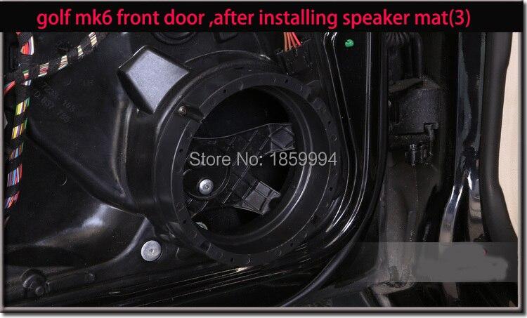 Puerta delantera y trasera sólida, alfombrilla para altavoz estéreo, arnés de cables, conectores adaptadores de 6,5 pulgadas, resistente al agua para vw golf 4 6 7 mk4 mk6 mk7 GTI