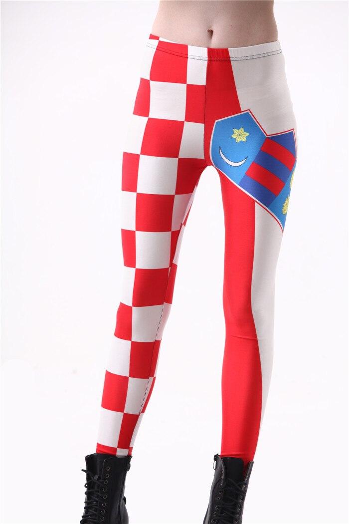 De las mujeres de la moda Bandera de Croacia Leggings Slim elástica pantalones de fiesta de poliéster para Cosplay pantalones casuales envío de la gota