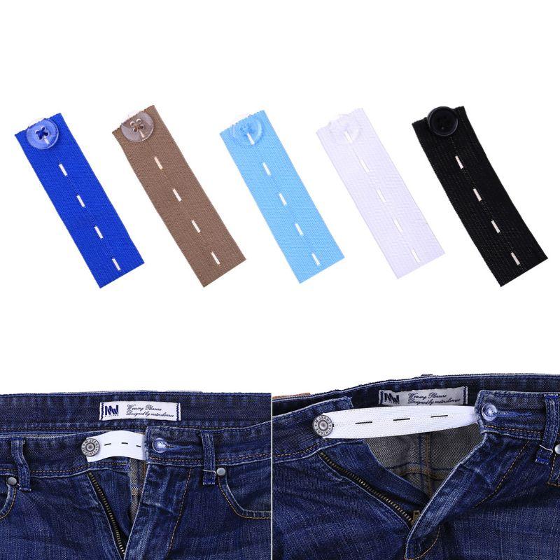 1 Pza. Premamá, cintura, pantalones, banda de goma, cinturón, falda, pantalones, botones expansores de cintura, 4 agujeros, extensor elástico ajustable 5
