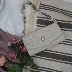NEW Luxury Handbags Women Chain Shoulder Messenger Bags Wrinkle Chain Designer Fashion pearl Handbag Crossbody for Lady