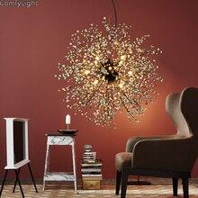 Moderne lustre éclairage coloré lampe nouveauté lampe à suspension chambre humeur éclairage pissenlit décor à la maison perles pendentif lampe