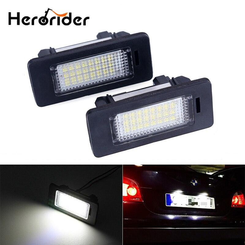 Светодиодная лампа для номерного знака автомобиля, 12 В, белая, 6000 К, для BMW E39, E60, E82, E90, E92, E93, M3, E39, E60, E70, X5, E60, E61, M5, E88, без ошибок