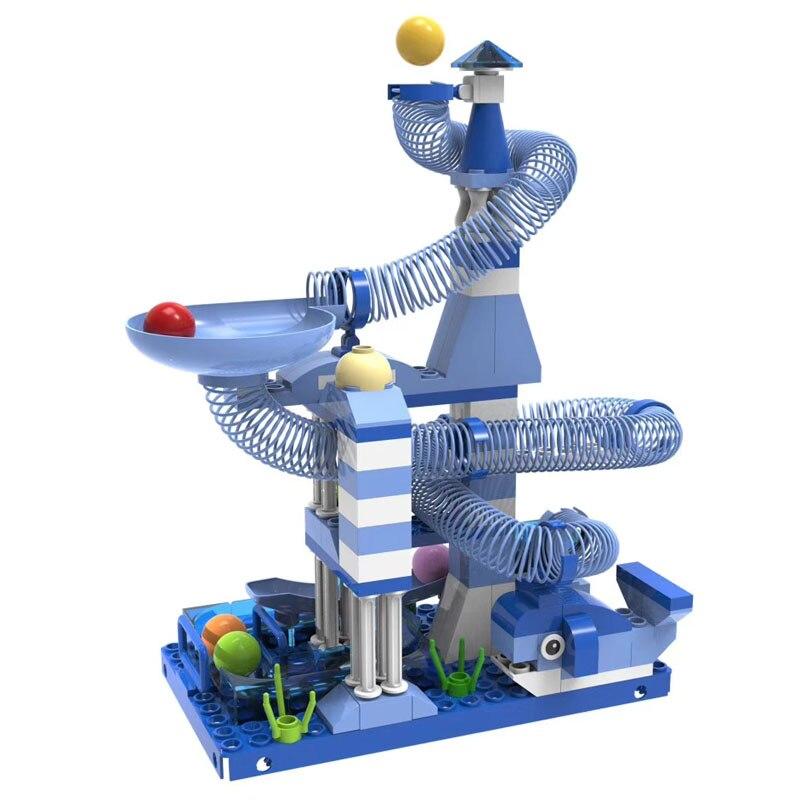 116-162PCS Marble Race Run Maze Balls Track Building Blocks Sea World Track Brick Toys For Kids Gifts