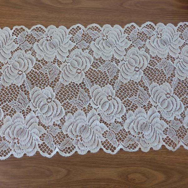 5 metros/lot Flor Grande Laço de Tecido Stretch Costura Trims Para Lingerie, Sutiã, Roupa de Mulher