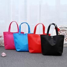 Large Hasp Shopping Bags Durable Travel Storage Non-woven Fabric Shoulder Bag Reusable Women Portable Handbags Organizer Pouch