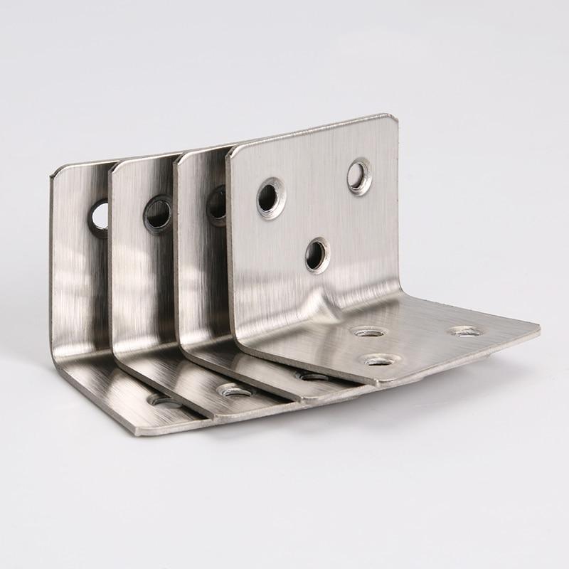 20 قطعة الفولاذ المقاوم للصدأ 90 درجة ركن بين قوسين تركيبات طاولة خشبية وكرسي موصل ثابت الطلاء 6 تصاعد ثقوب المسمار 38x30mm