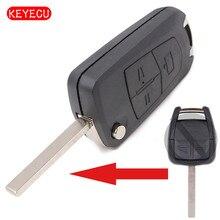 Keyecu coque de clé pliable 3 boutons   Pour Opel Vectra Antigo Omega supersma Agile, lame HU100/HU43/HU46/YM28 de choix