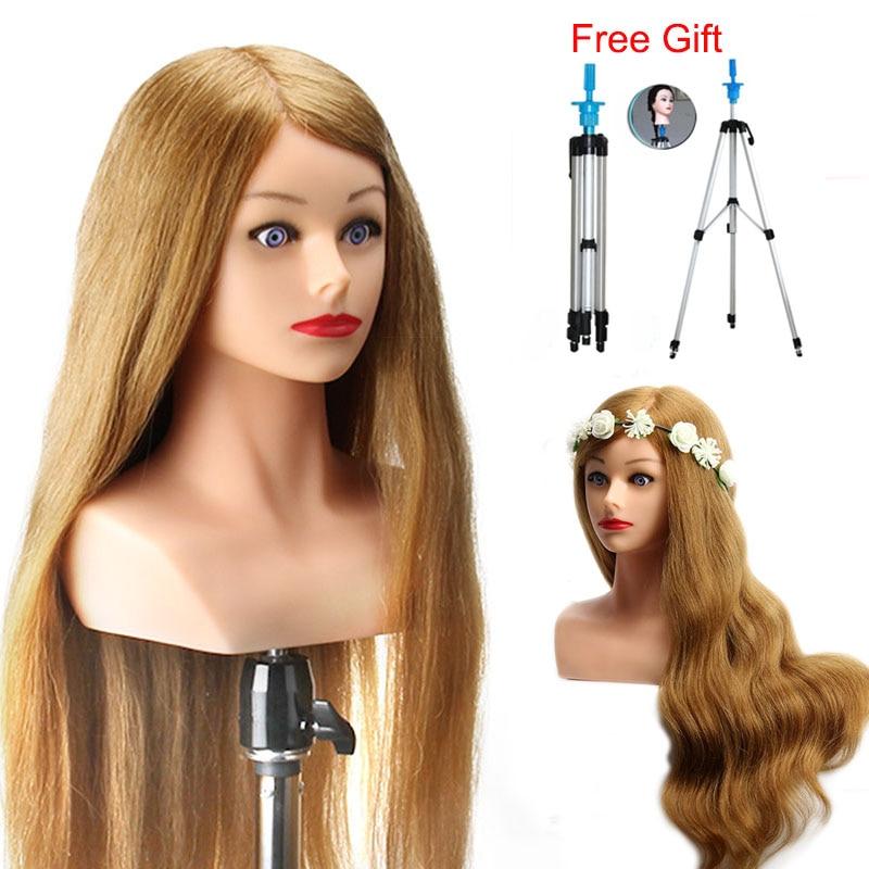 Tête de Mannequin Blonde longue 24