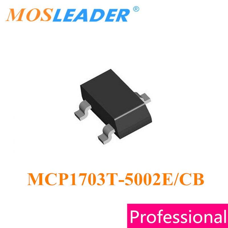 Mosleader MCP1703T-5002E/CB SOT23 100 piezas MCP1703T-5002E MCP1703T-5002 MCP1703T hecho en China de alta calidad Original