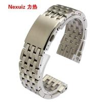 Ремешок серебристый для наручных часов, ширина серебристого браслета из нержавеющей стали 24 мм 28 мм 30 мм