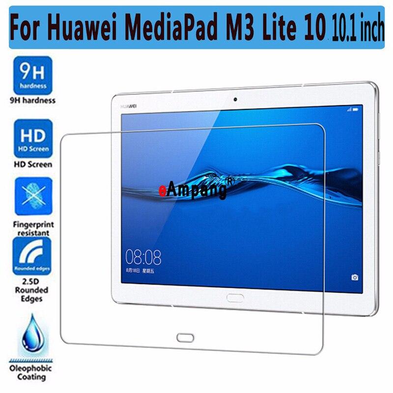 De vidrio templado 9H para Huawei Mediapad M3 Lite 10 10,1 pulgadas BAH-W09 BAH-AL00 Protector de pantalla para Huawei M3Lite10 película de vidrio 2.5D