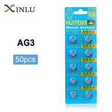Großhandel 1 los = 5 packs = 50 stücke AG3 392A L736 LR41 392 384 SR41SW CX41 192 Taste zelle münze Batterie für uhr, cosmosnewland