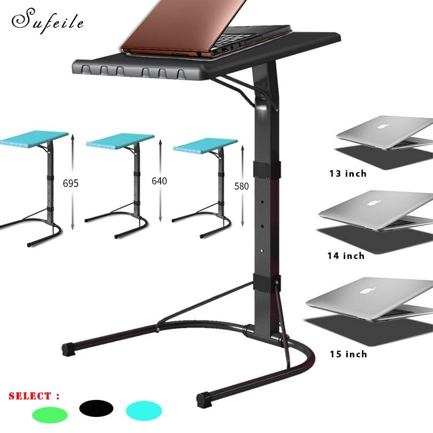 SUFEILE Portable Folding Laptop Desk Multifunctional Outdoor Table Can Adjust Computer Desk Metal office Laptop Desk SE27
