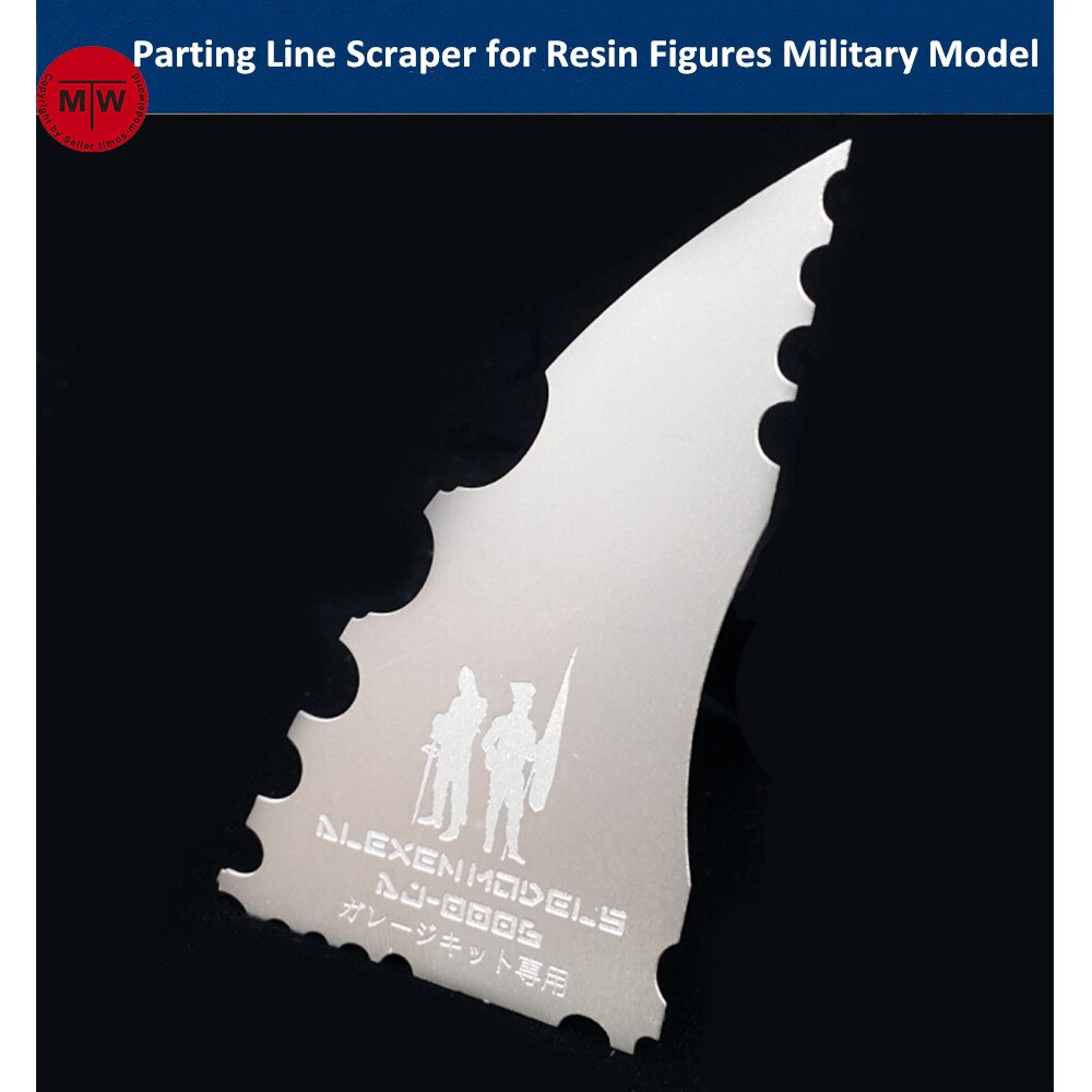 Modelo Alexen, raspador de línea de separación, herramientas de sierra de mano para figuras de soldados de resina, maqueta militar de montaje, Kits de Hobby AJ0006