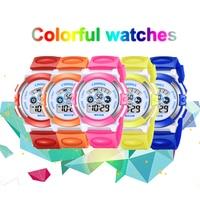 Модные детские часы многофункциональные электронные Резиновые наручные часы светящиеся водонепроницаемые студенческие спортивные часы д...